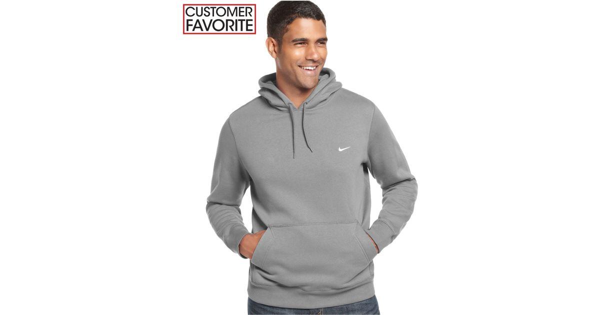cd38d96475fc Lyst - Nike Men s Classic Fleece Hoodie in Orange for Men