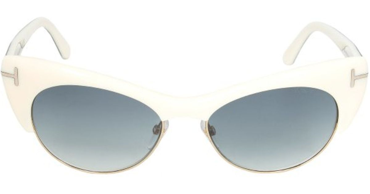 Lyst Tom Ford Ft0387 25f Lola Cateye Sungles In White