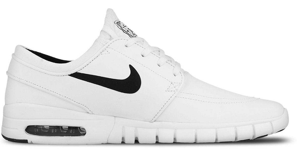 1201b2500d0b Lyst - Nike Sb Stefan Janoski Max Suede in White for Men