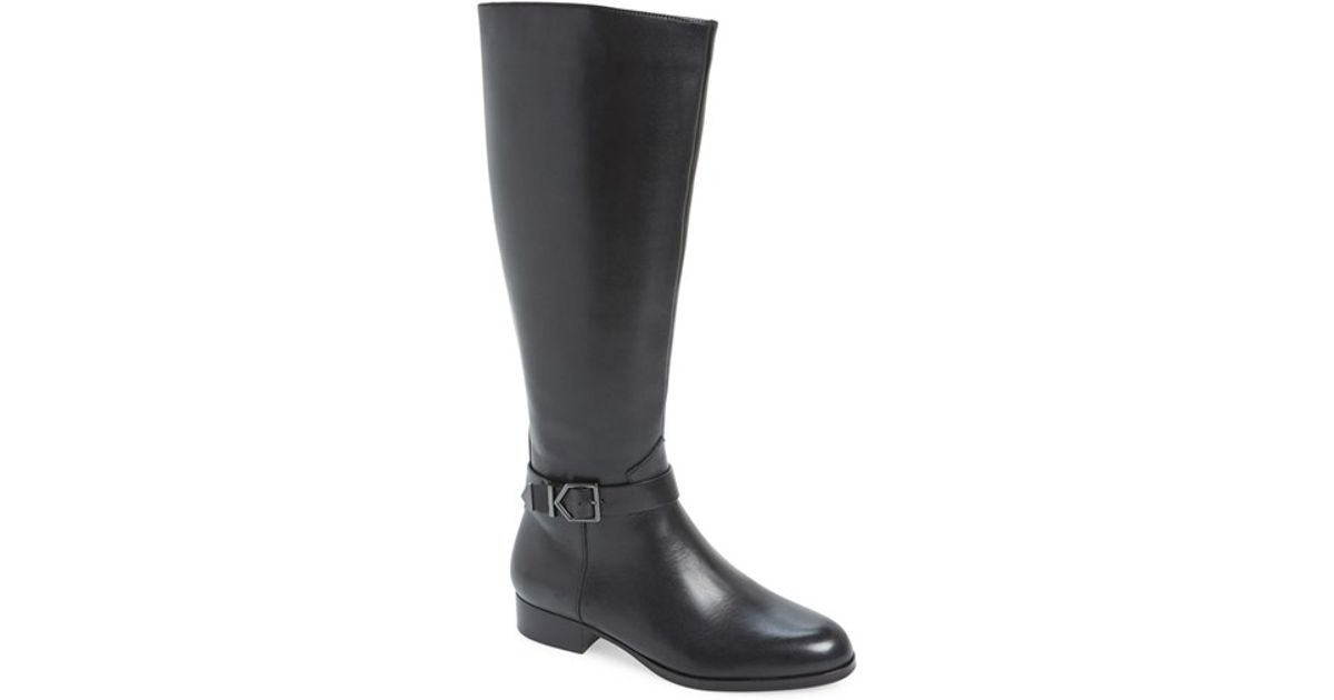 2290aa84c124d3 Lyst - Via Spiga  philippa  Riding Boot in Black