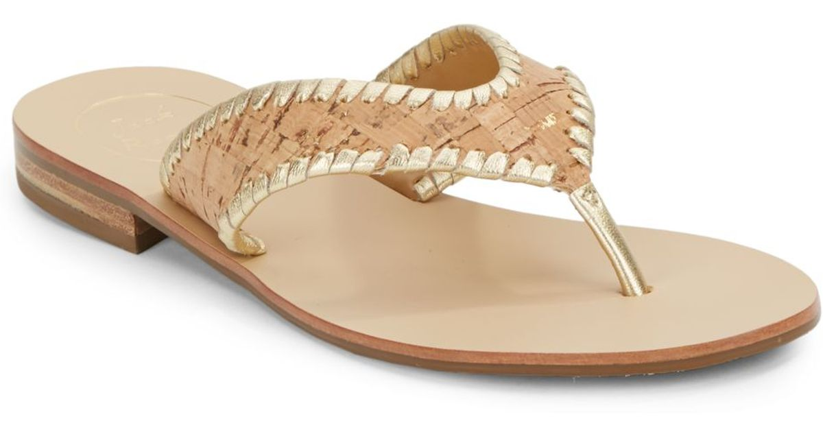 sale classic Jack Rogers Leather Slide Sandals clearance low shipping fee amazon online outlet low cost JMcON