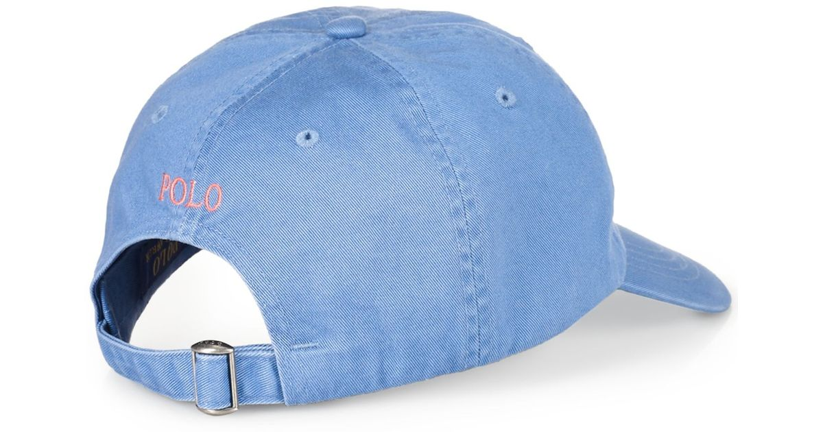 6db0931fa08 Lyst - Polo Ralph Lauren Classic Chino Sports Cap in Blue for Men