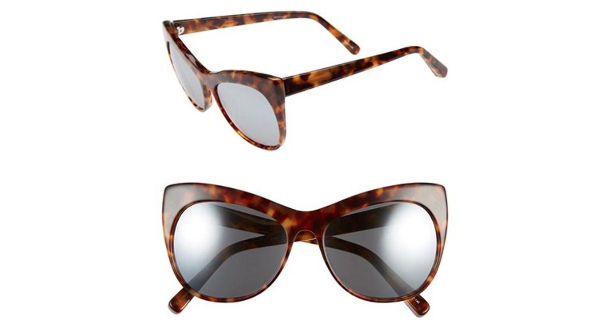51798f47fc Lyst - Elizabeth And James  lafayette  56mm Cat Eye Sunglasses in Brown