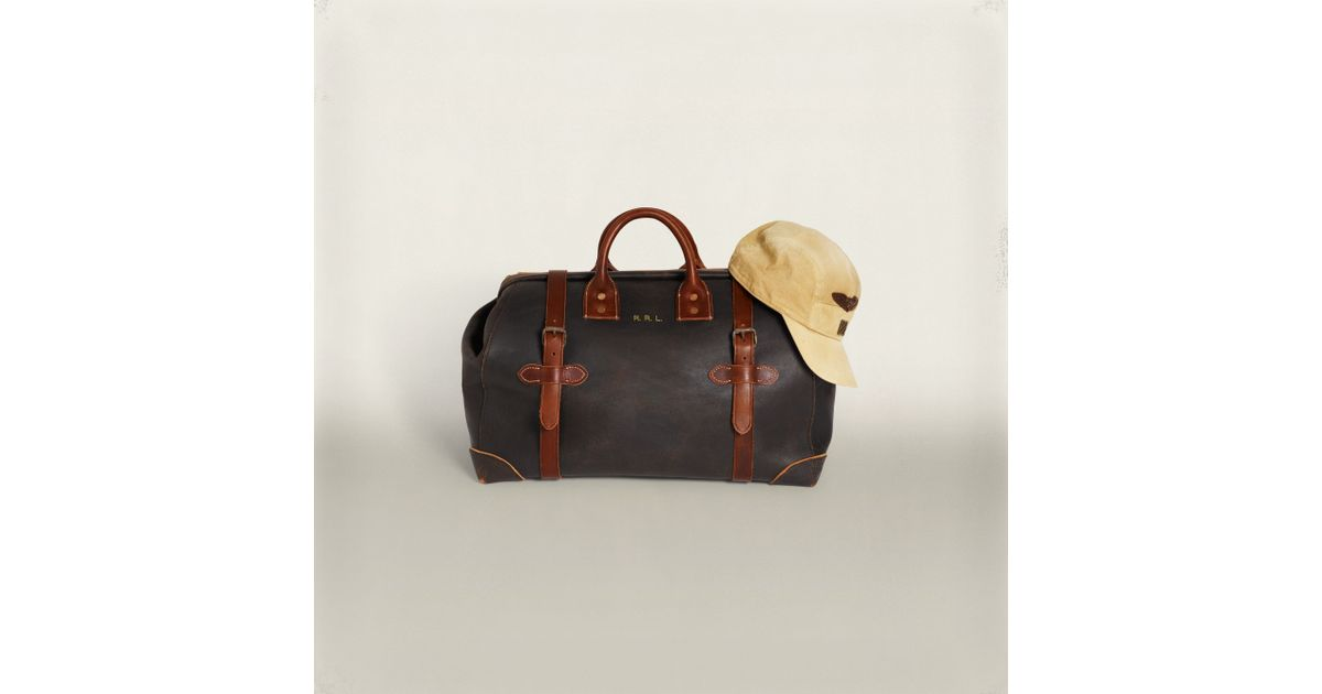 1eb2ab2bb2 Rrl Medium Leather Otto Bag in Brown for Men - Lyst
