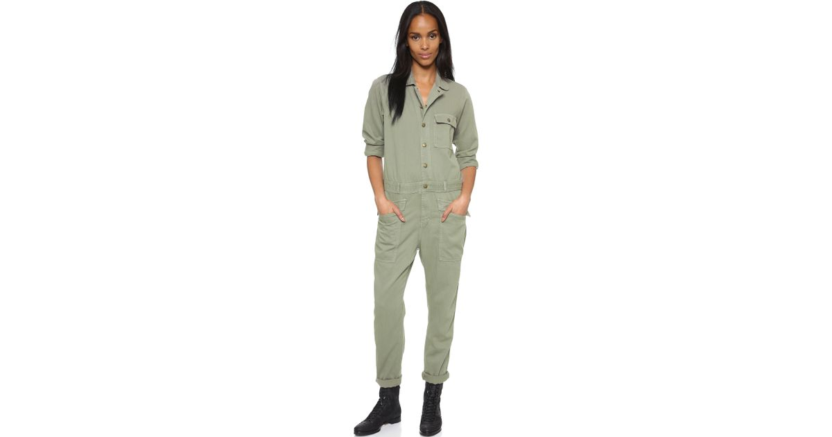417bb6f82ce8 Lyst - Current Elliott The Rosie Coveralls - Forest Field in Green