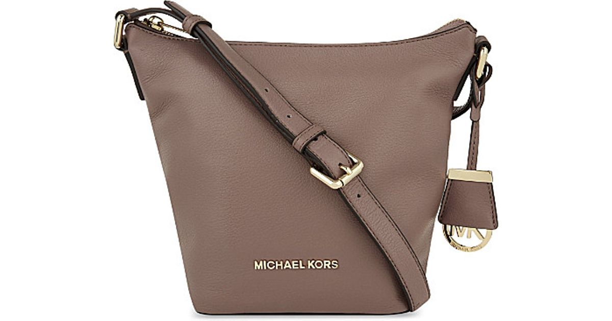 michael michael kors bedford small leather messenger bag for women rh lyst co uk