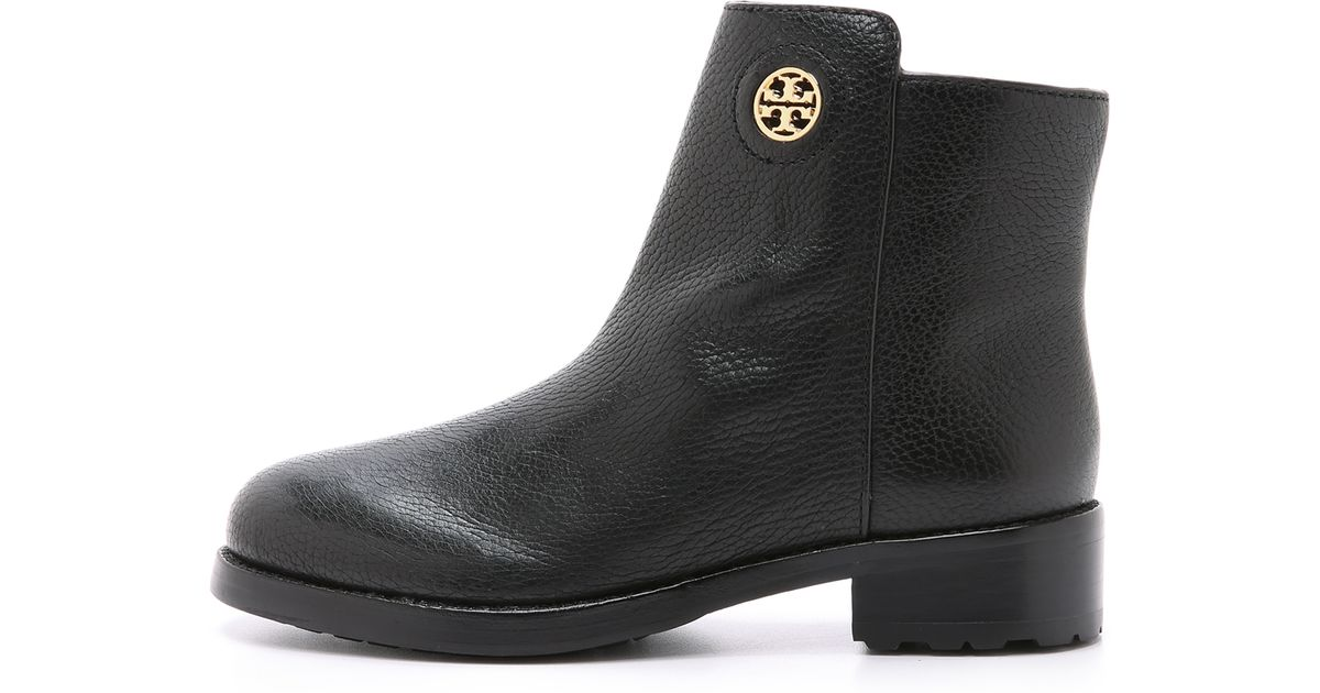 d10ec5660a16 Lyst - Tory Burch Junction Booties - Porcini in Black