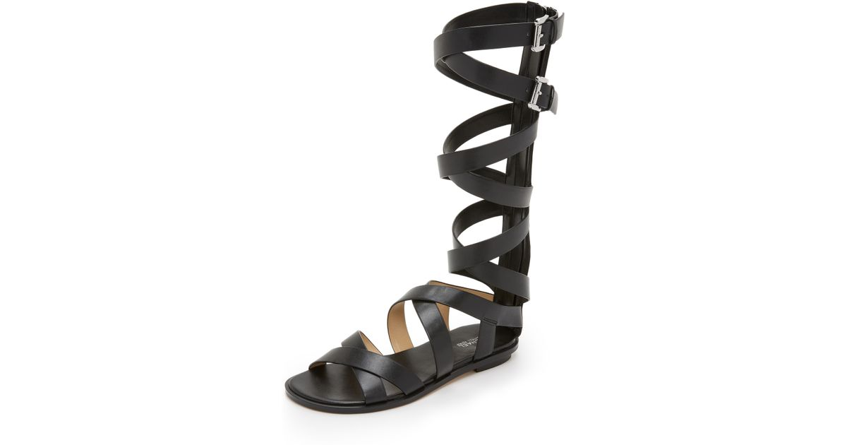 571bc2ad9fd Lyst - MICHAEL Michael Kors Darby Gladiator Sandals in Black