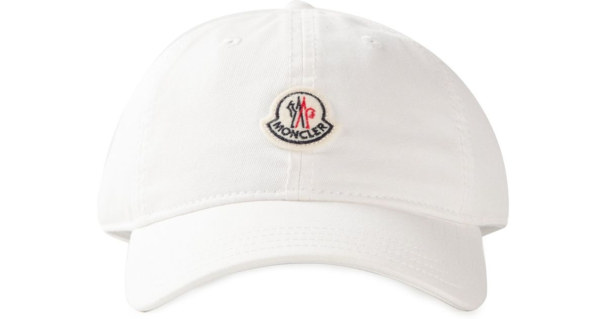 1c4f894e487 Lyst - Moncler Logo Detail Baseball Cap in White for Men
