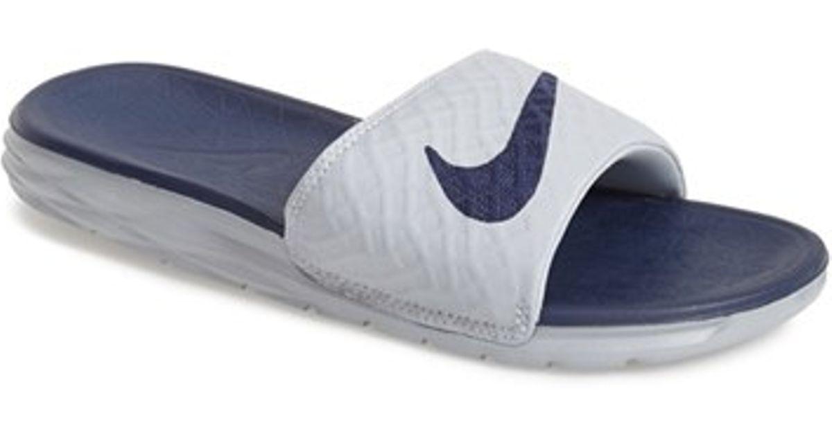 d5da179035f7 reduced nike kawa shower slides 110b9 c342c  low price nike benassi  solarsoft 2 slide sandal in blue for men lyst 0b2ed 5cb16