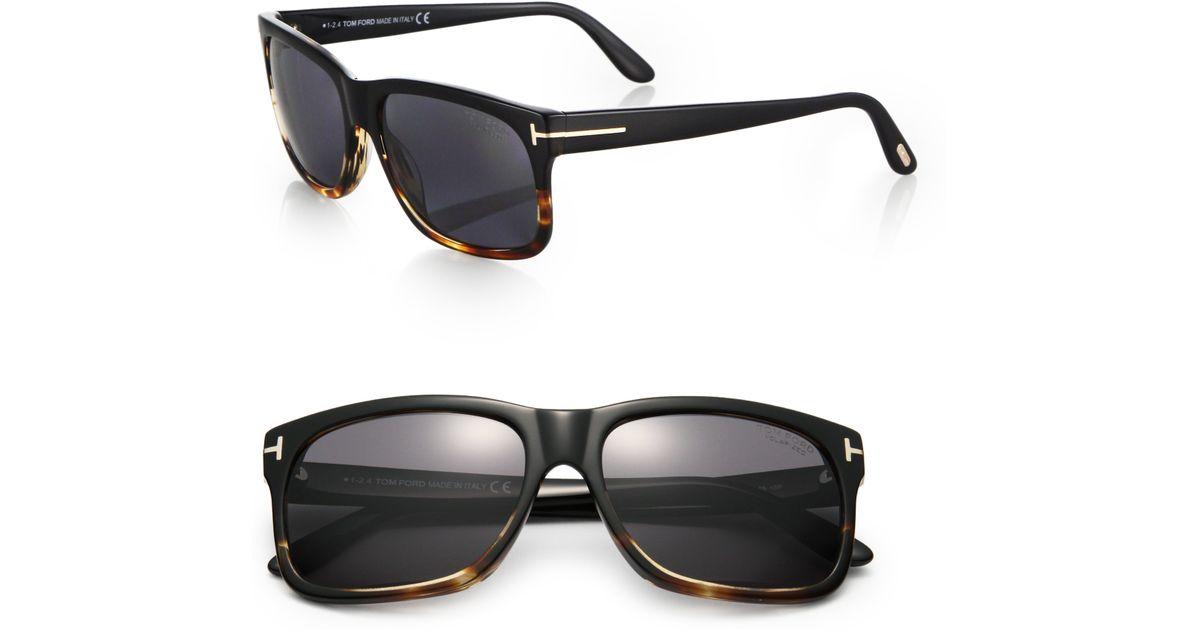9913e514e0 Lyst - Tom Ford Barbara Printed Sunglasses in Black for Men
