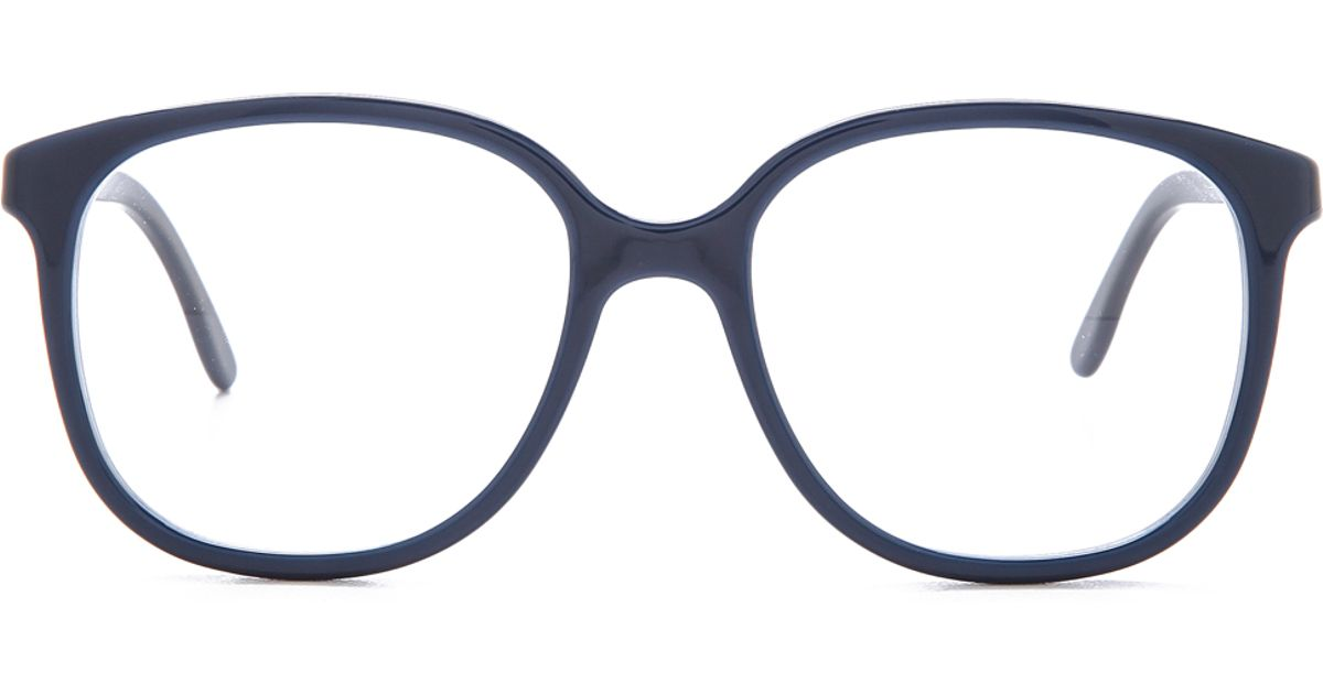 Lyst - Stella Mccartney Square Frame Glasses - Blue in Blue