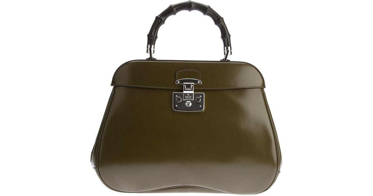 ed3db04538 Lyst - Gucci Lady Lock Handbag in Green