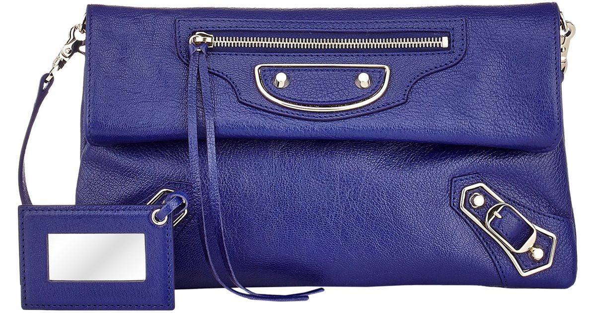 get new durable in use multiple colors Balenciaga Blue Classic Envelope Clutch
