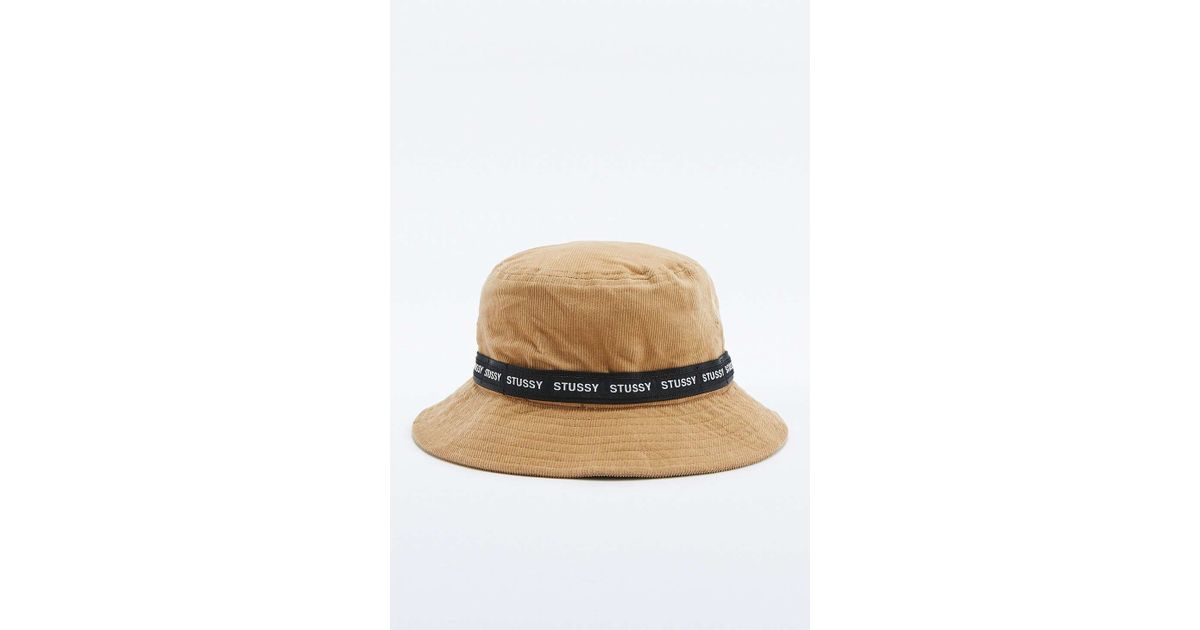 Stussy Tan Band Cord Bucket Hat in Natural for Men - Lyst a5c48136aed9