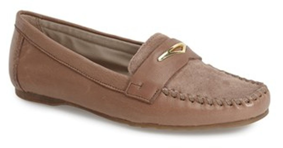 d0e76b605 Franco Sarto 'Papillon' Loafer Flat in Natural - Lyst