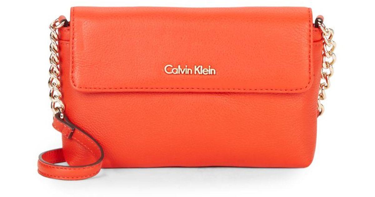 Calvin Leather Lyst Pink Crossbody Klein In Bag dAAEqSr