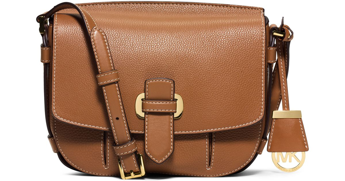 2174a55be2ea97 MICHAEL Michael Kors Romy Medium Leather Messenger Bag in Brown - Lyst