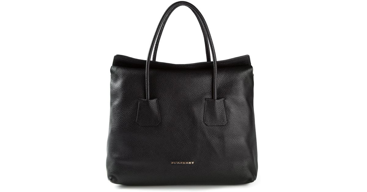 Lyst - Burberry Brit Medium Baynard Leah Tote in Black 1c54609935