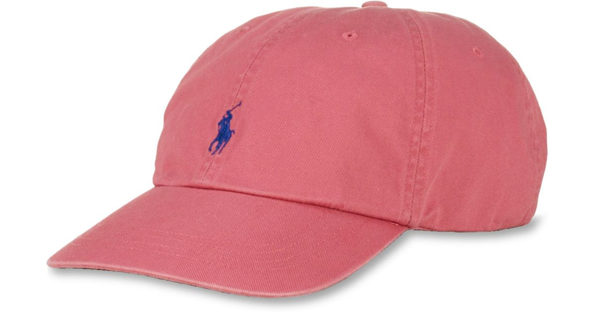 d844c4c431edd Lyst - Ralph Lauren Polo Big and Tall Classic Chino Twill Baseball Cap in  Red for Men