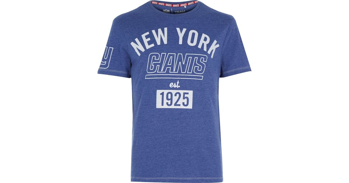 River island Blue Nfl New York Giants Team Print T-shirt in Blue ...