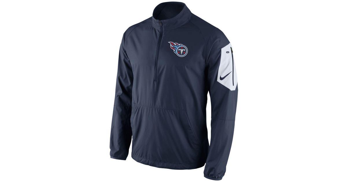 Lyst - Nike Men s Tennessee Titans Lockdown Half-zip Jacket in Blue for Men cd9801050
