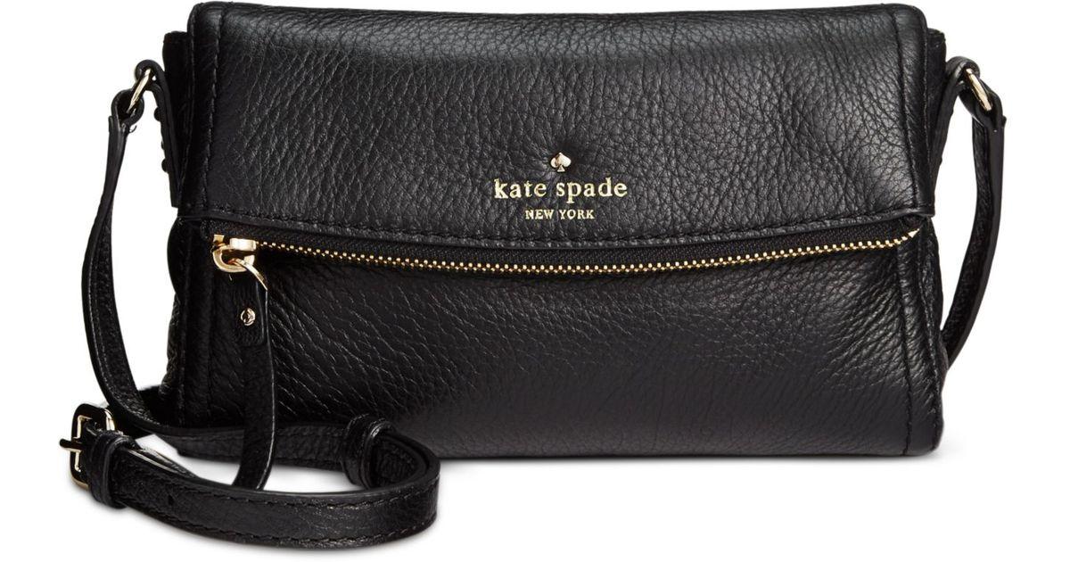 396986dc1fc3 Lyst Kate Spade Cobble Hill Mini Carson Crossbody In Black. Kate Spade New  York Jackson Street Small Rubie Leather Crossbody Bag Pink