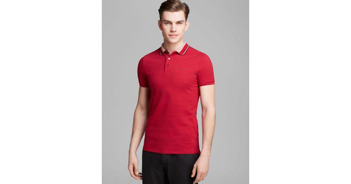 65d481a7 Burberry London Adler Short Sleeve Polo in Red for Men - Lyst
