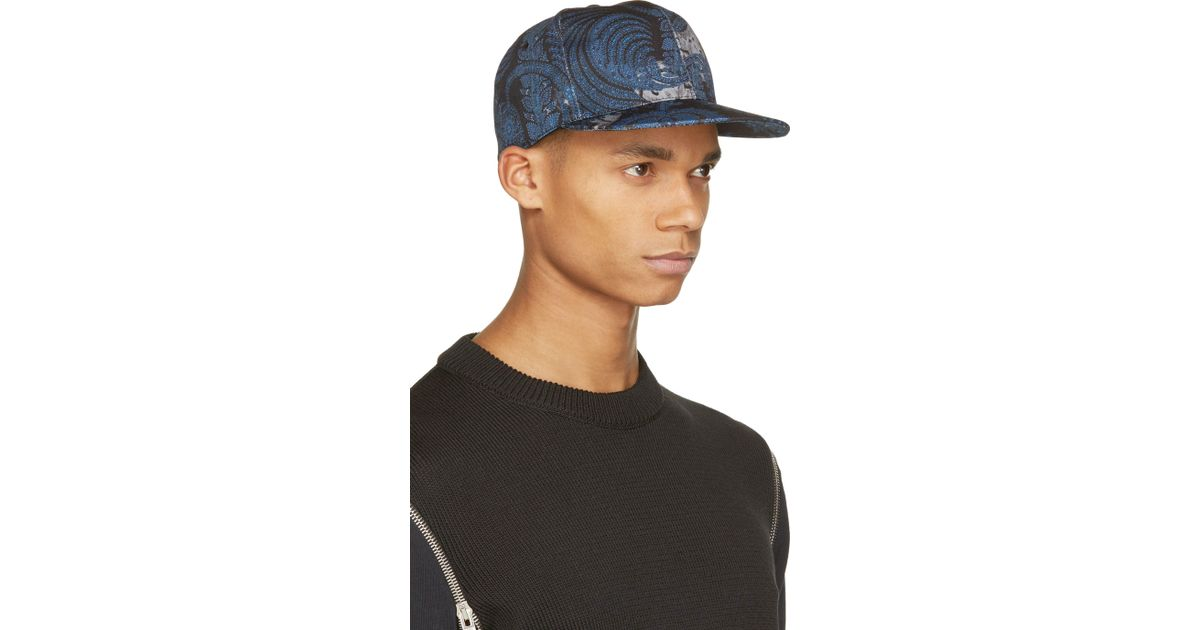 Lyst - Givenchy Blue Cotton Paisley Cap in Blue for Men 22db873531e