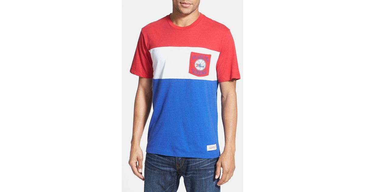 5d36856c4 Lyst - Mitchell   Ness  philadelphia 76ers - Margin Of Victory  Tailored  Fit T-shirt in Blue for Men