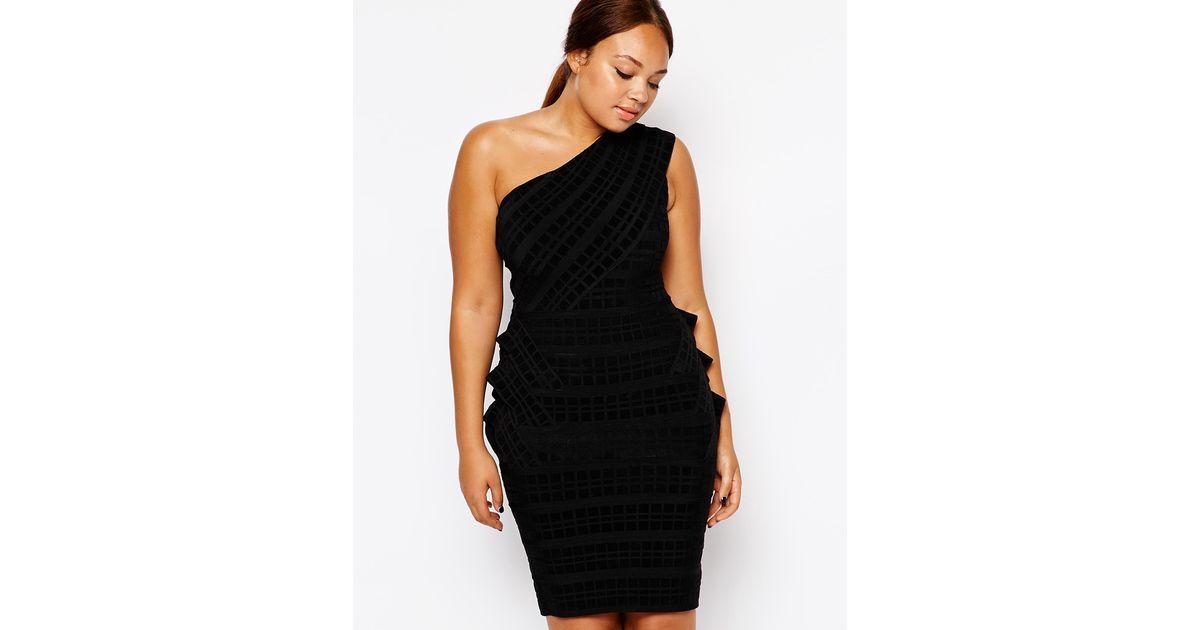 Lyst Forever Unique Plus Size Esta Bandage Dress In Black