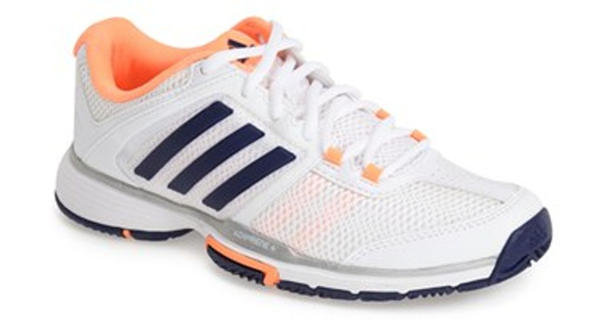 wholesale dealer cceaa 54f84 Lyst - Adidas adipower Barricade Team 4 Tennis Shoe in White