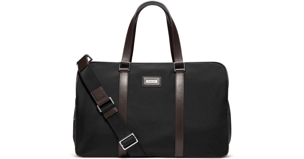 Bolsa Michael Kors Nylon : Michael kors windsor nylon duffel bag in black for men lyst