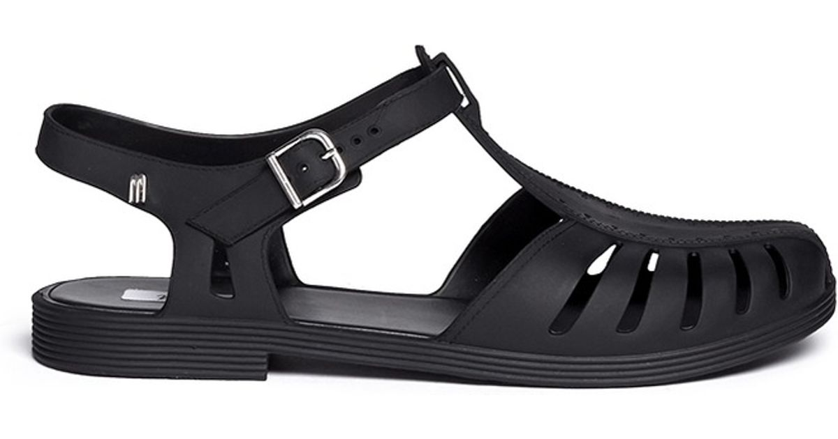04dfb412c72a Lyst - Melissa  Aranha 1979 Vi  Jelly Fisherman Sandals in Black