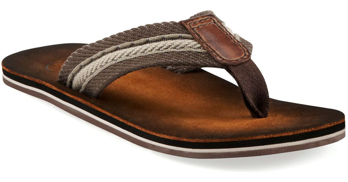 7cc3b8a881b9 Lyst - Clarks Cory Thong Sandals in Brown for Men