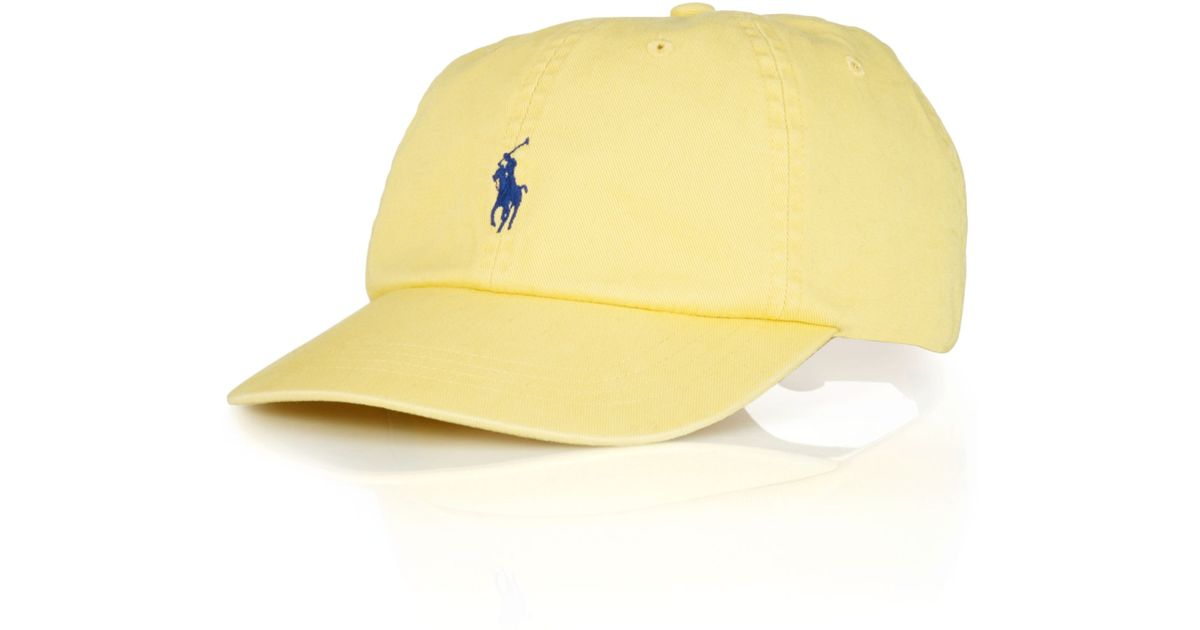 Lyst - Polo Ralph Lauren Polo Big and Tall Classic Chino Twill Baseball Cap  in Yellow for Men af456692ec6