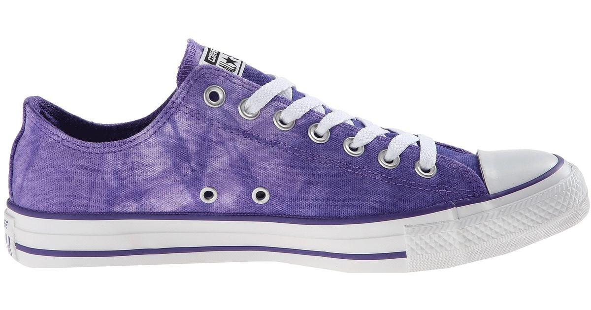 c87fba01e963 Lyst - Converse Chuck Taylor All Star Tie Dye Ox in Purple
