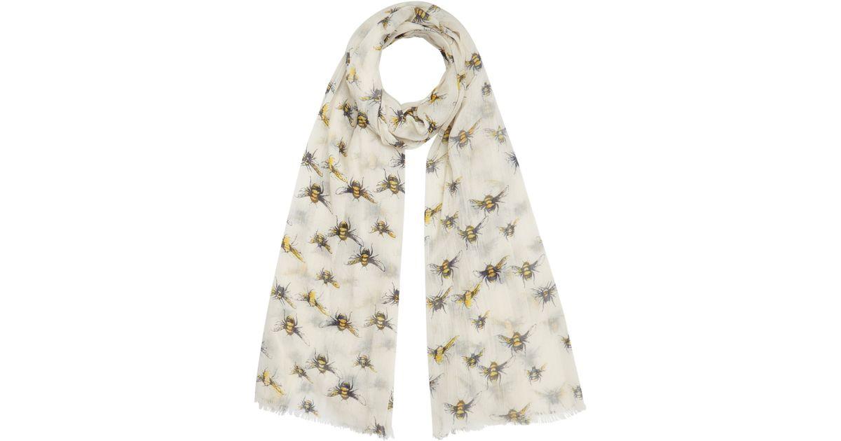lewis bumblebee print scarf in lyst
