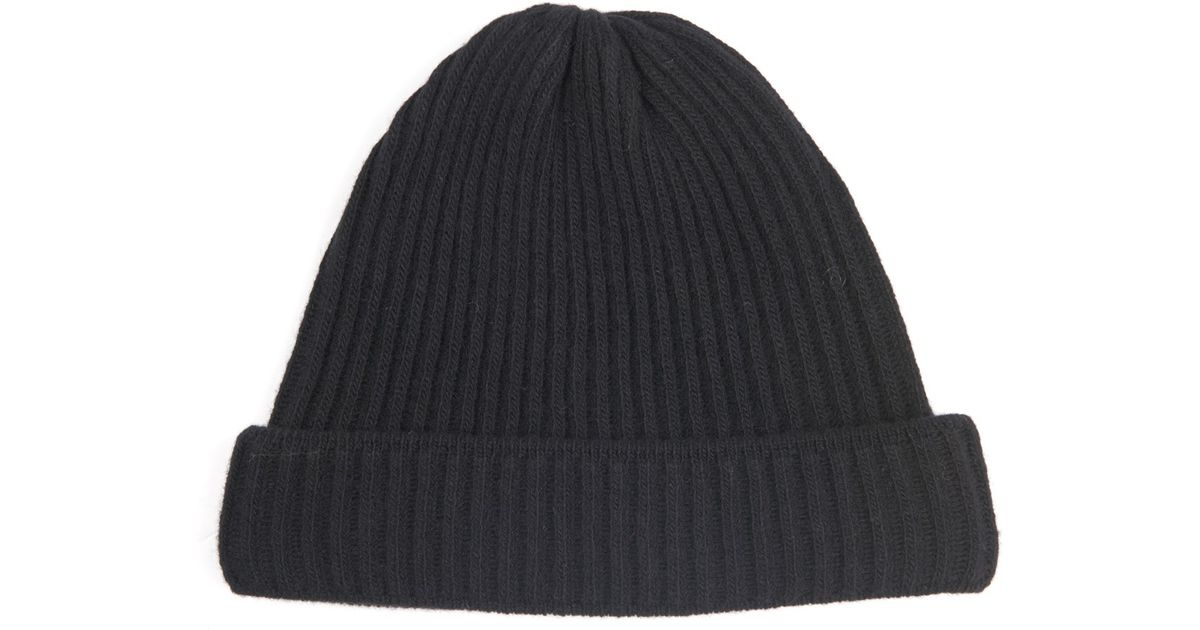 Lyst - Acne Studios Miles Ribbed-Knit Wool Beanie Hat in Black for Men dfe4c62e665