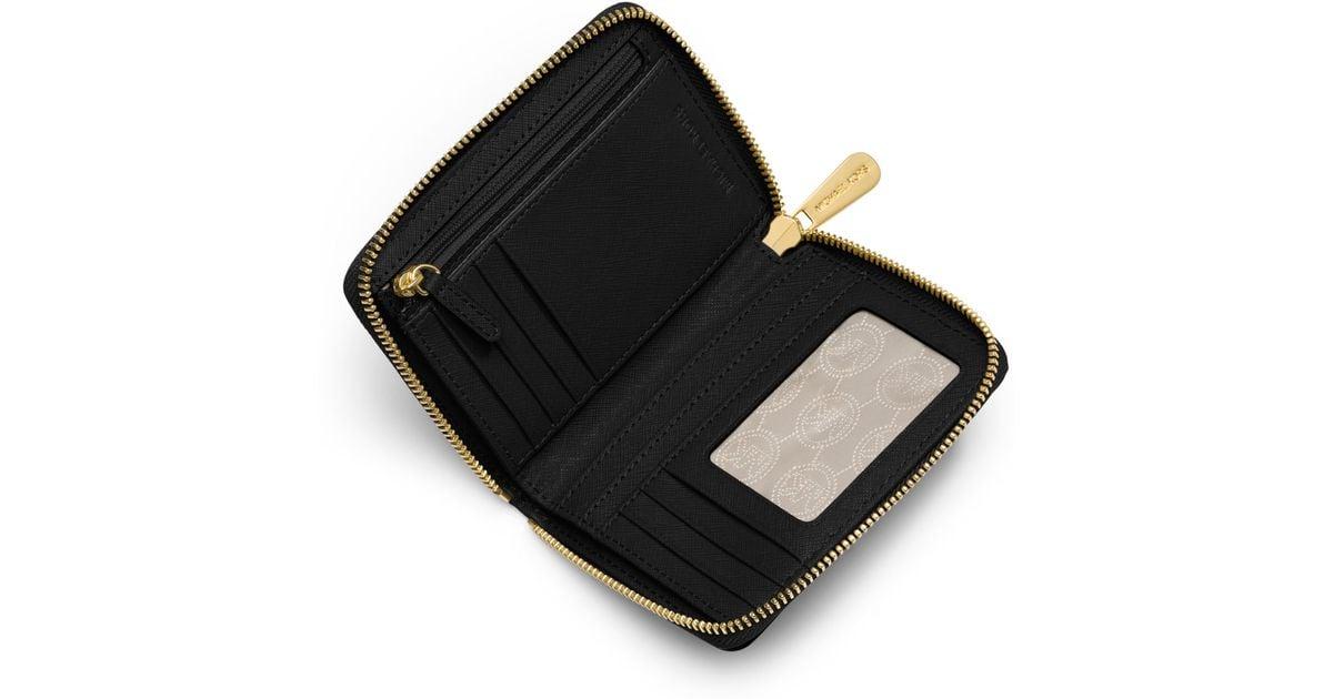 87d123db9dfe MICHAEL Michael Kors Medium Jet Set Travel Ziparound Wallet in Black - Lyst