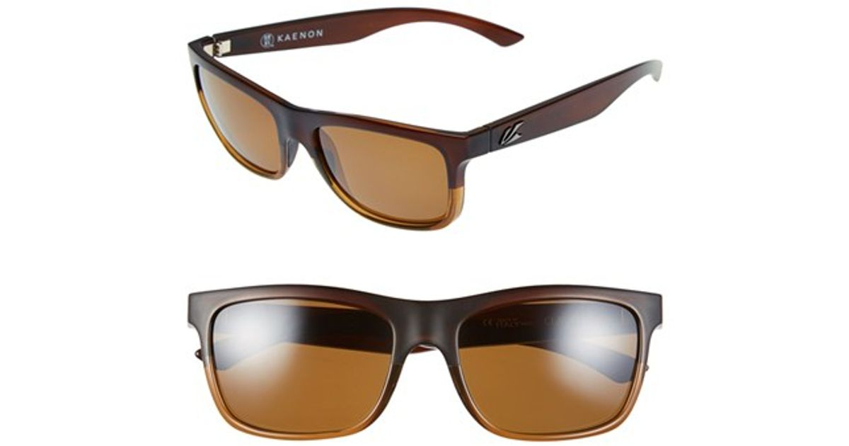 953f71b51ef Lyst - Kaenon  clarke  56mm Polarized Sunglasses - Whiskey in Brown for Men