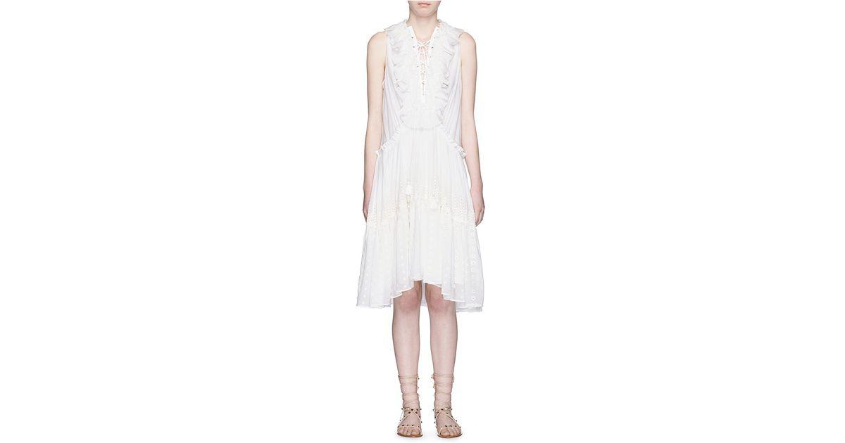 V Neck Tiered Dress