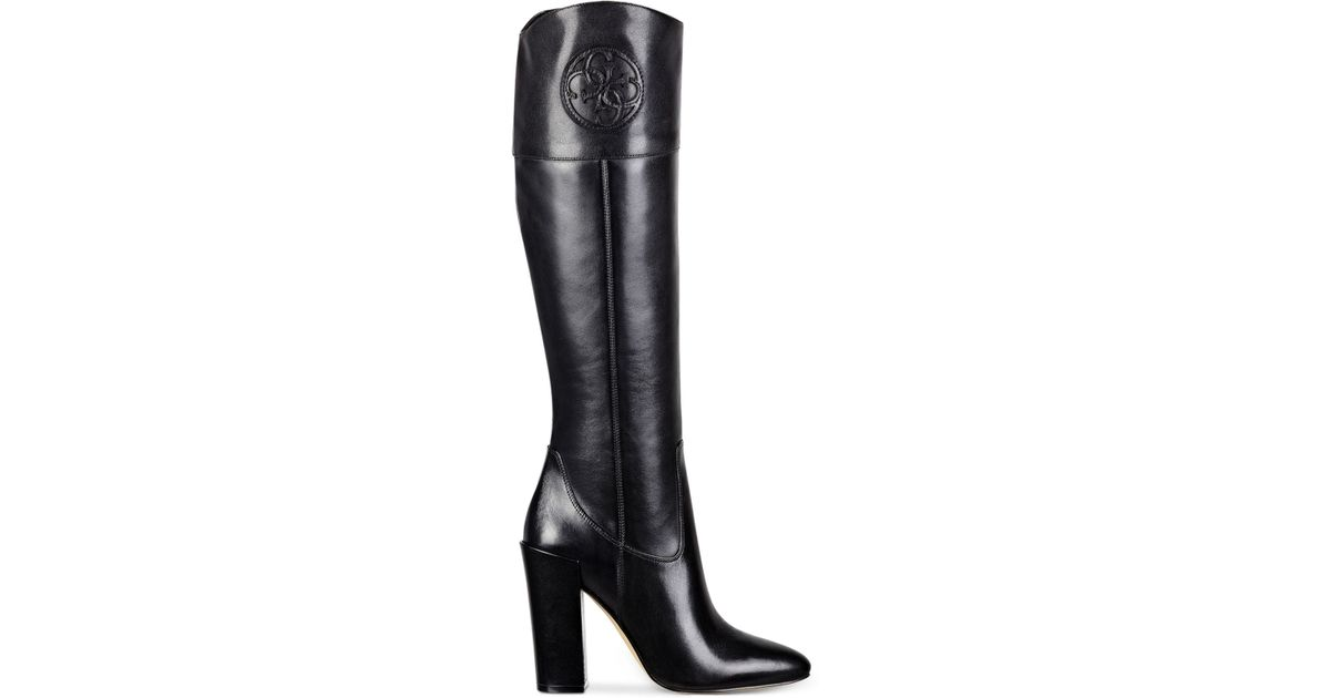 76389853ab Guess Women's Dalen Tall High Heel Boots in Black - Lyst