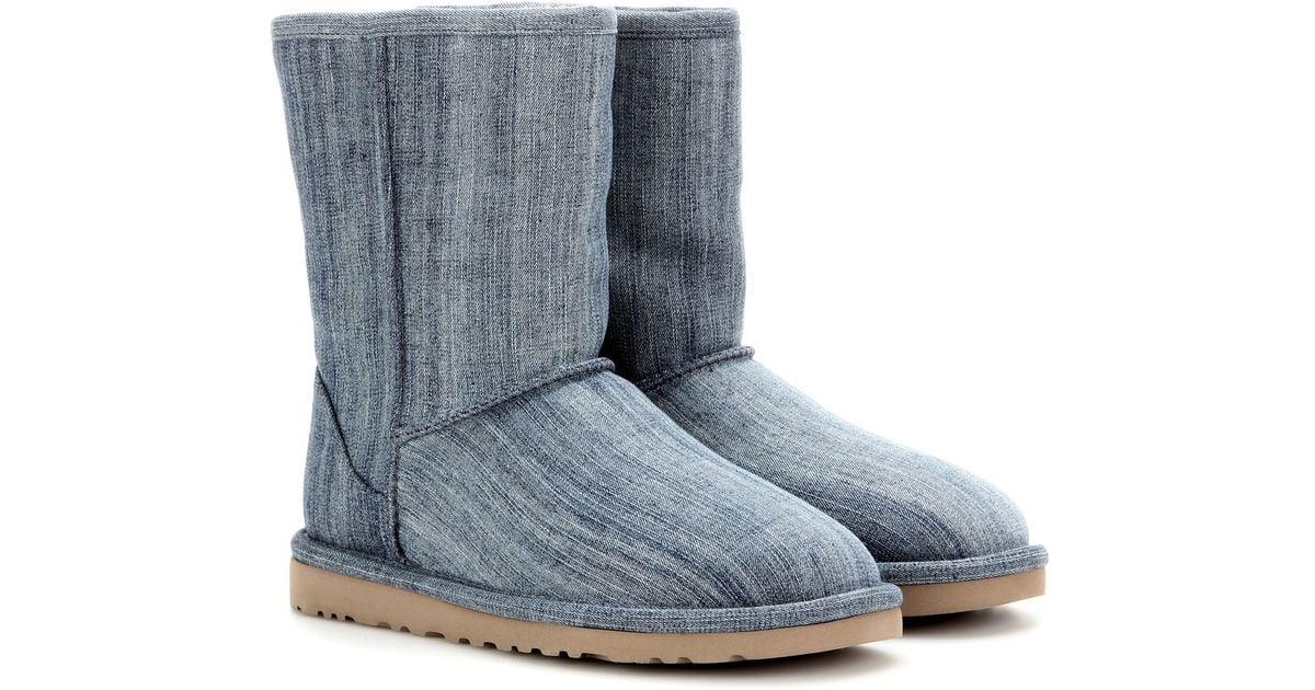 Dolce And Gabana Light Blue Ugg Classic Short Denim Boots in Blue | Lyst