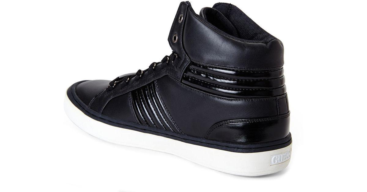802eb271b9ea Lyst - Guess Black Lloyd High-top Sneakers in Black for Men
