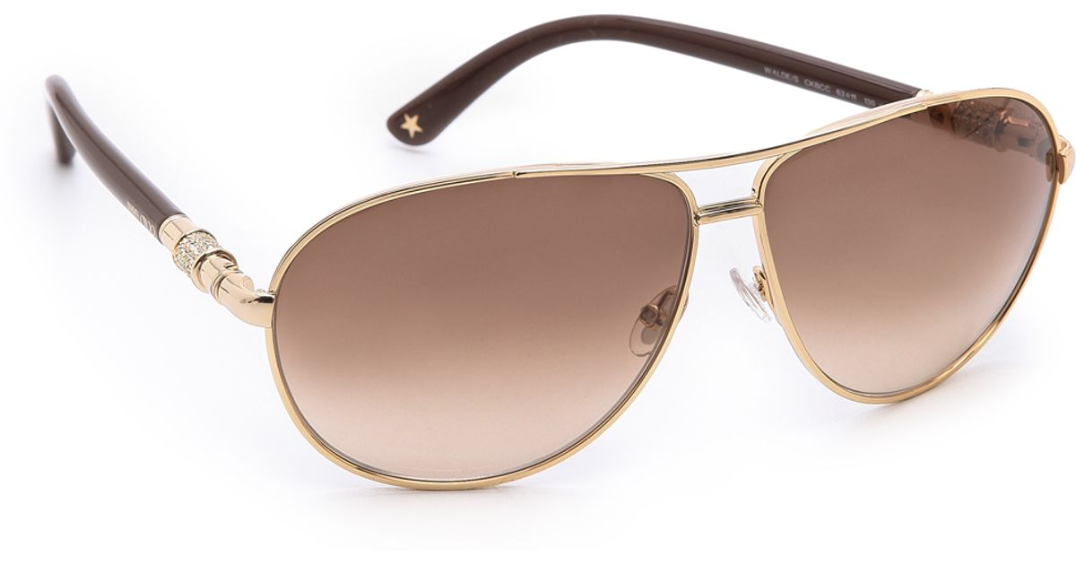 b1071a6264a Lyst - Jimmy Choo Walde Sunglasses in Brown