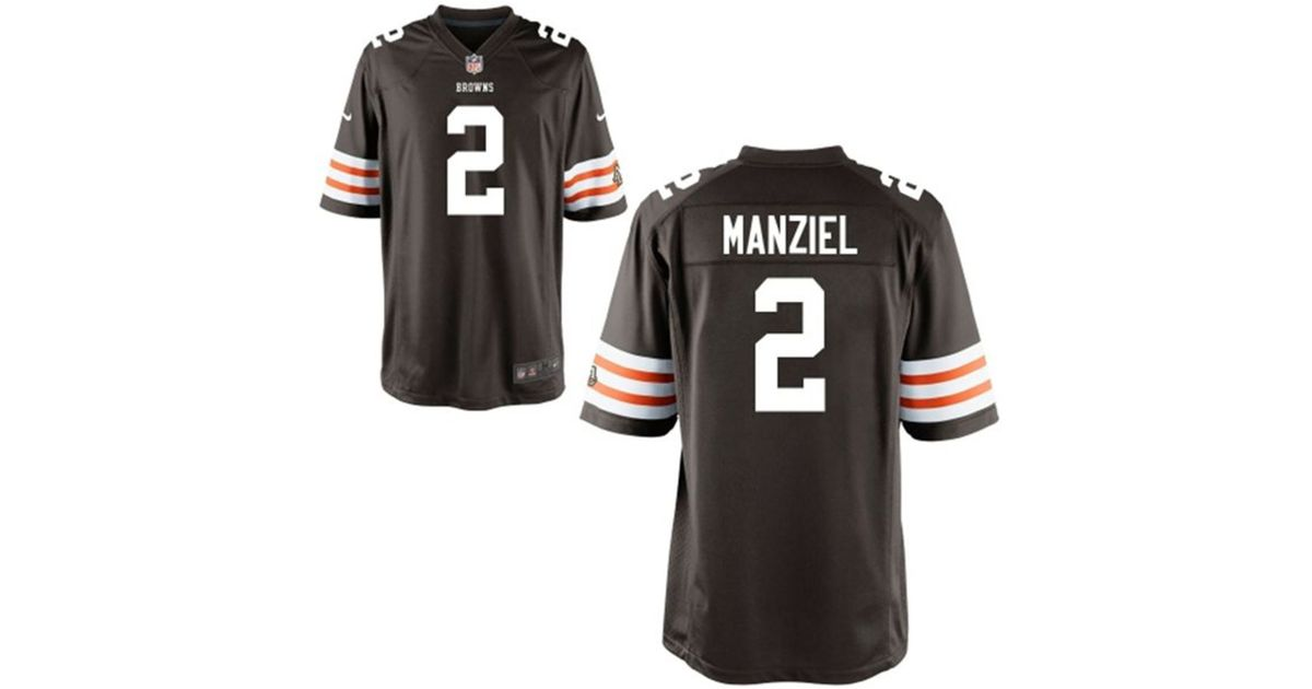 138903353 ... new style lyst nike mens johnny manziel cleveland browns game jersey in  brown for men 1697a