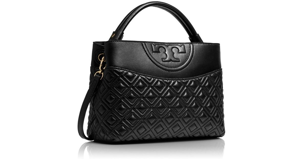 77936b0bd05b ... low cost lyst tory burch fleming mini leather satchel in black 57930  3e646 new ...
