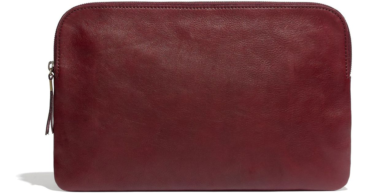 Red Pouch The Clutch Large Lyst Madewell In Cabernet Dark uclK5TFJ13