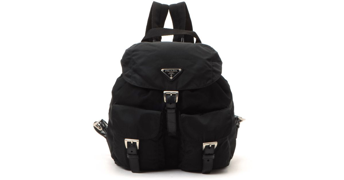 943b97eacdc3 ... promo code for best price lyst prada tessuto backpack vintage in black  235e5 f97a7 4df7f 634a1